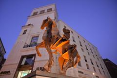 The Horse and the Building (redsk82) Tags: italy horse building art statue italia modernart napoli naples shape viatoledo