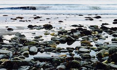 Laxey Beach (*snow in september) Tags: sea beach pebbles isleofman laxey