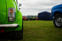 Green Mini (pigpogm) Tags: light green car wheel photos bokeh rear mini exmouth voigtlander40f14 mxpp normalityunframed exmouthclassiccarshow