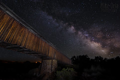 Covered Bridge & Milky Way (mikeSF_) Tags: california county longexposure bridge light night painting stars star stanislaus pentax sigma astro galaxy covered astrophotography gps 1020 k5 milkyway 10mm knightsferry ogps1 astrotracer wwwmikeoriacom