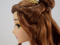 Belle and Beast Limited Edition Doll Set - Disney Store - Belle Deboxed - Standing - Closeup Right Side View (drj1828) Tags: us disneystore beautyandthebeast limitededition doll belle 2016 le500 purchase set 17inch posable collectible shoes standing deboxed platinum review