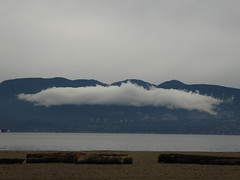 Strange cloud (misiekmintus) Tags: bc britishcolumbia canada vancouver spanishbanks sea mountain cloud nube wolken chmury pacificnorthwest