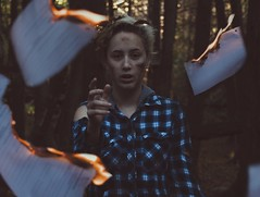 Things We Lost In The Fire (mikaylalabadie1) Tags: conceptualimage dark forest woods alexstoddard conceptual surreal fire conceptualphotography