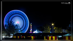 Feria San Nicasio 2016 - 008 (Pablo Gómez Photography) Tags: seleccionar feria san nicasio leganes 2016 nocturna noche noria protecion civil metro madrid mexicano mejicano luz luces bombillas larga exposicion night atraccion atraction nightly protection underground light long