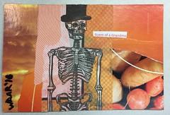 Scent of a grandma (witt0071) Tags: postcard orange halloween skeleton mixedmedia waar napkin tt collage mailart
