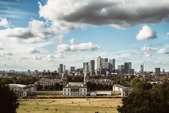 London from Greenwich park (guerrini_stefano) Tags: travel traveller traveler travelling traveling travelphotography tour tourism tourist journey trip uk england london allaroundtheworld neverstopexploring view landscape cityscape skyline sky clouds sunny holydays greenwich park relax