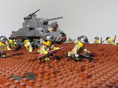 15 October, 1944- Isabella Polder, Breskens Pocket (Sgt._Johnson) Tags: lego wwii scene canadian m4 sherman tank battle scheldt