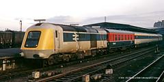 c.03/1973 -York. (53A Models) Tags: britishrail intercity125 prototypehighspeedtrain class41 41002 diesel passenger lmsdynamometercarno3 testcar3 departmentalcoach train york railway locomotive railroad