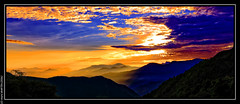 Sunset in Npal from Australian Base Camp (2100m) (L'Abominable Homme de Rires) Tags: sunset nepal tre landscape atalante
