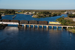 Lake Okeechobee & a GP11 (Rudy - rufec12) Tags: lake okeechobee moore haven trains clewiston unitedstatessugarcorporation ussc gp11 302 caloosahatchee river glades county railfan railfanning ex atlantic coast line acl south central florida express scfe