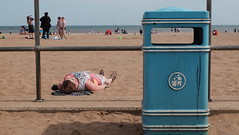 Sun Worship (Micky Ayres) Tags: skegness beach british seaside sunbathing fujiflm xt10 street photography woman