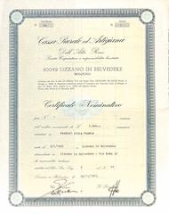 CASSA RURALE ED ARTIGIANA DELL'ALTO RENO (scripofilia) Tags: 1973 alto altoreno artigiana azioni cassa reno rurale
