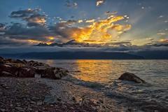 Seward Sunrise (Philip Kuntz) Tags: seward sewardbay sunrise sunup daybreak dawn sunrays ocean beach waves alaska