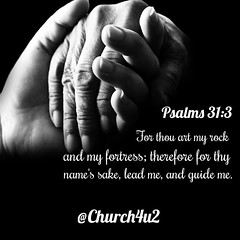 """Psalms 31-3 """"For thou art my rock and my fortress; therefore for thy name's sake lead me, and guide me."""" (@CHURCH4U2) Tags: bible verse pic"""