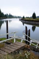 Dock on the Yaquina River, Oregon (DrewGaines) Tags: yaquina river dock toledo oregon newport coast nautical riverscape fog mist water reflections nikon d7000 drew gaines drewgaines