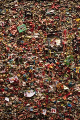 Pike Place Market gum wall in alley (Jim Corwin's PhotoStream) Tags: markettheatre nw northamerica pacificnorthwest pikeplacemarket seattle abundance alley architecture arrangements attractions bubblegum building candy chewinggum covered creativity day daytime destinations display downtown facade fad food fresh fun funny gum gumwall humor humorous individuality landmark local market merchant multicolored nobody northwest openairmarket outdoors pattern patterns penairmarket photographing photography placestosee publicart sideofbuilding sightseeing sticky strange stuck sweets takingpics tourism tourists travel trend unique urbanscene variation variety vertical wall weird