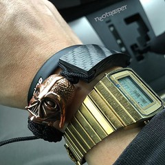 Another happy GAW winner sporting their bracelet! #Repost @neotrooper  Awesome handiwork and thanks for the generous giveaway @jenniferrayjewelry  ; #carbonfiber #copper #darthvader #petina ; #watchoftheday #seiko #digital #80s #tbt (JenniferRay.com) Tags: instagram carbon fiber jewelry exclusive jrj jennifer ray paracord custom