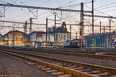 Central Train Station Prague (MikyRafa) Tags: railway station prague tren praga dusk atardecer