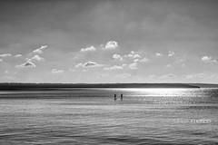 Una Navidad diferente. (rmfly) Tags: mallorca playa navidad mar luz blancoynegro nikond800e nikkor24mm14g nubes cielo