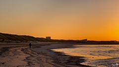 The lonely hiker (BraCom (Bram)) Tags: bracom sunset beach strand zonsondergang hiker wandelaar dunes duinen strandpaviljoen beachpavilion zee sea ouddorp northsea noordzee waves golven surf branding kust coast brouwersdam goereeoverflakkee zuidholland nederland southholland netherlands holland canoneos5dmkiii widescreen canon 169 canonef24105mm bramvanbroekhoven nl