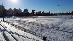 Mercer Stadium (bottledale999) Tags: mercer stadium new westminster winter snow track white cold beautiful blue sky sunny sun light morning school vancouver