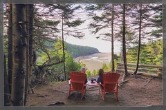 Just the Two of Us (Note-ables by Lynn) Tags: outdoor fundynationalpark newbrunswick nationalparks tides lookout redchairs scenic hiking transcanadatrail couple bayoffundy