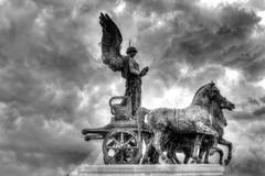 Terrazza delle Quadrighe (Mikey Down Under) Tags: italy rome roma altaredellapatria altarofthefatherland chariots chariot hdr dark clouds moody storm terrace terrazzadellequadrighe vitorriano