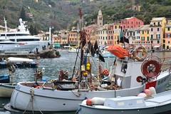 fishing boats (Carpe Feline) Tags: santamargaheritaligure carpefeline portofino italy sanmarino fishingboats ocean mountainside
