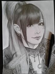 Takashi (Giovana Draw/ ) Tags: illustration black white grey jrock visual kei takashi grafite graphite draw portrait