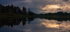 Grand Tetons Revisited (leakylightbucket) Tags: grandtetons wyoming river reflection clouds trees sunset