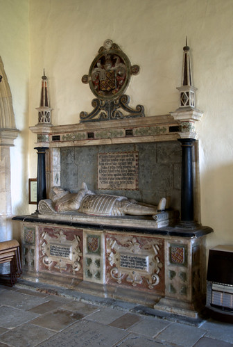 Brooke, Rutland, Church of St. Edmund, king & martyr, monument to Chas. Noel †1619