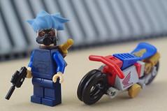 Nobu and his Honda Ahoudori (06) (F@bz) Tags: cyberpunk bike motorcycle lego wheel sf space scifi akira honda moc