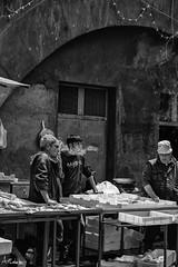 _DSC2789 (artlele) Tags: catania mercato market blackandwhite black white traditional sicilia sicily italia italy history streetphotografie street streetlife fishermen fish life true truelife work fishmarket reportage