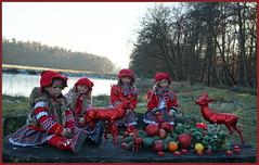 Der Nikolaus wohnt im Tierpark ... (Kindergartenkinder) Tags: dolls himstedt annette kindergartenkinder park herbst sony ilce6000 milina sanrike personen kind annemoni tivi dülmen nikolaus