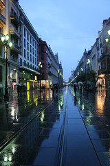 Walking under Rain (xiaolifra) Tags: shadow siviglia walking espana spain lights chance portraits picoftheday photo moment time bridge amazing colorful dark blackwhite black simply emotions