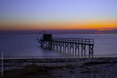 Les Moutiers en Retz 44 (Louzier Sabine) Tags: atlantique bassin beach bretagne eau extrieur clairage heurebleue littoral lesmoutiersenretz loireatlantique mer mare nuages ocan pcherie ponton quitude rivage sea sunset