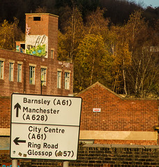 two fingers to Barnsley (PDKImages) Tags: kelham sheffield sheffieldstreetart sheffieldart abandoned broken urban lost contrasts skull yorkshire desolate windows