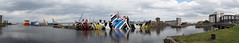 'The Dazzle Ship' - Leith (Neil Pulling) Tags: uk edinburgh forth leith scotland thedazzleshipleith dazzlepaint vista panorama