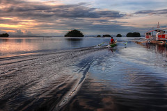 A Life in Surigao del Sur (allansoul) Tags: hdr boats cloudy labritania philippines photomatix sea sunset surigao surigaodelsur tokina1116 ultrawide vacation view views