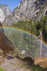Rainbow over Mist Trail (no ceiling) Tags: parksandpreserves usnationalparks unitedstates yosemitenationalpark rainbows vistalandscape