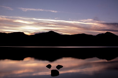 goodnight, goodnight II (gavin.hoskins) Tags: derwentwater keswick lake lakedistrict sunset water sky silhouette tripod longshutterspeed slowshutterspeed winter catbells canoneos60d stones colourful cumbria