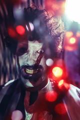 (NickChao) Tags: clown dark creepy circus freakshow nightmare makeup flare bokeh