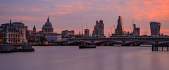 Morning Light - City of London (Aleem Yousaf) Tags: morning light london long exposure stpauls cathedral skyline river thames sunrise blackfriars bridge southbank 50mm neutral density filter nikon d800 golden hour sky clouds outdoor city architecture waterfront water