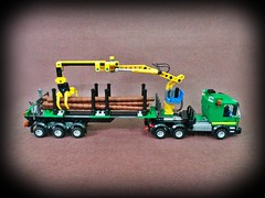 Timber Haulage 9 (SUPER EVER) Tags: truck log lego timber haulage