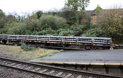 YWA 'Salmon' bogie flat wagon 996292, EWS (DB Schenker), Filton Abbey Wood, Bristol (Kev Slade Too) Tags: bristol wagon salmon ews ywa filtonabbeywood dbschenker bogieflatwagon 607f 996292
