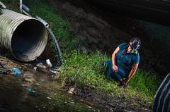 The Under the Bridge Shoot #2 (Houston Urban Photography) Tags: bridge urban gasmask alienbees