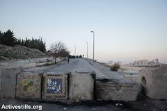 Protest against road blocks, Issawiya, East Jerusalem, 12.11.2014 (activestills) Tags: israel palestine jerusalem protest roadblock occupation eastjerusalem movementrestrictions topimages alissawiya faizaburmeleh