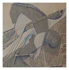 Paper works, researches —  Untitled- mcourteau (michelle@c) Tags: paris color art thread pencil paper cut works abstraction scratch papier travaux researches recherches michellecourteau atelierp