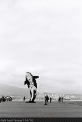 lego orca // Afga APX 25 (domo k.) Tags: blackandwhite canada film fog skyline vancouver haze scenery lego britishcolumbia north shore m42 orca manualfocus vancouverdowntown agfaapx25 vancouverconventioncentre supertakumar50mmf14 asahipentaxspotmaticspii thelabvancouver