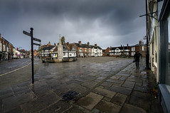 Sometimes it rains in Sandbach 9808 (Redesmere Photographic) Tags: england rain clouds cheshire unitedkingdom centre stormy cobbles steet sandbach
